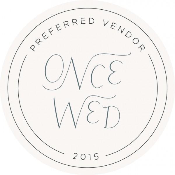 OnceWed_PreferredVendor_Circle_2015-1-600x599