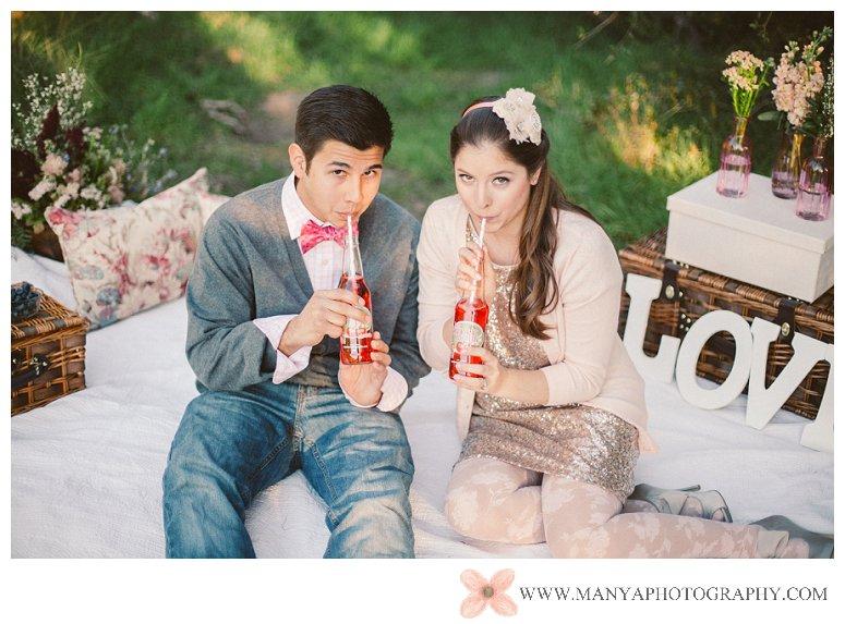 2014-02-01_0275- Valentine's Day Inspired Picnic Styled Engagement Shoot | Orange County Wedding Photographer