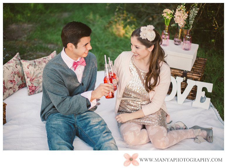 2014-02-01_0280- Valentine's Day Inspired Picnic Styled Engagement Shoot | Orange County Wedding Photographer