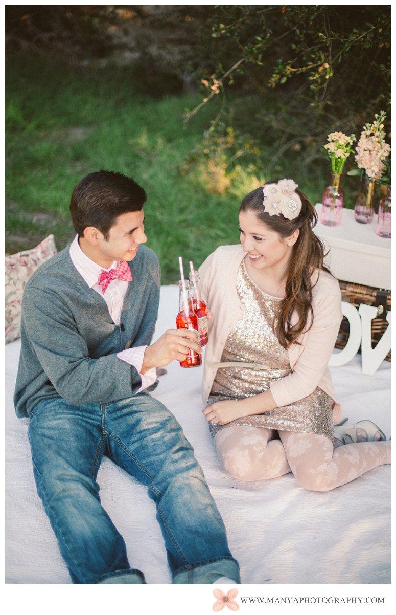 2014-02-01_0282- Valentine's Day Inspired Picnic Styled Engagement Shoot | Orange County Wedding Photographer