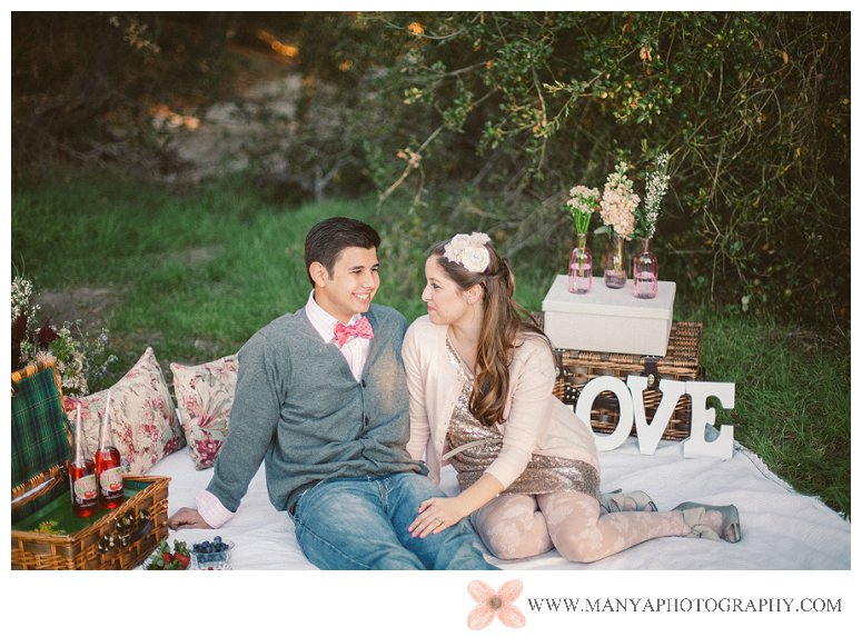 2014-02-01_0283- Valentine's Day Inspired Picnic Styled Engagement Shoot | Orange County Wedding Photographer