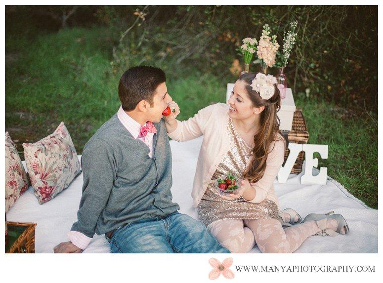 2014-02-01_0288- Valentine's Day Inspired Picnic Styled Engagement Shoot | Orange County Wedding Photographer