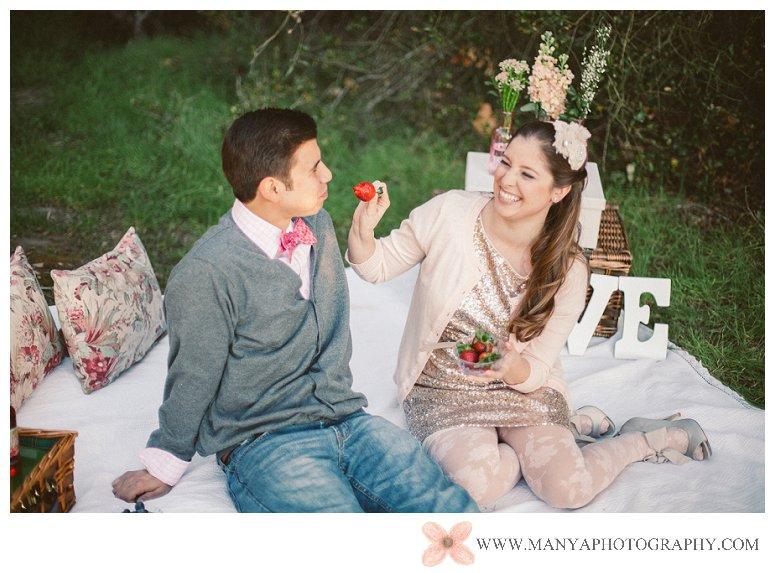 2014-02-01_0290- Valentine's Day Inspired Picnic Styled Engagement Shoot | Orange County Wedding Photographer