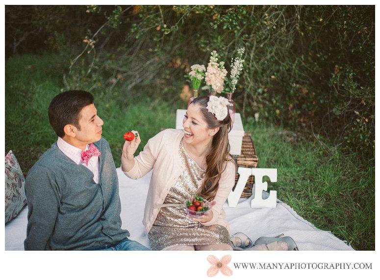 2014-02-01_0291- Valentine's Day Inspired Picnic Styled Engagement Shoot | Orange County Wedding Photographer