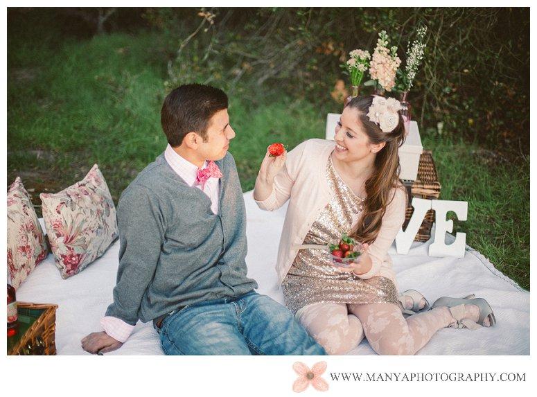 2014-02-01_0292- Valentine's Day Inspired Picnic Styled Engagement Shoot | Orange County Wedding Photographer