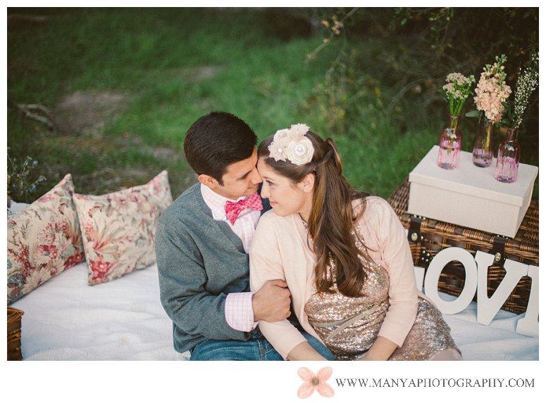 2014-02-01_0311- Valentine's Day Inspired Picnic Styled Engagement Shoot | Orange County Wedding Photographer