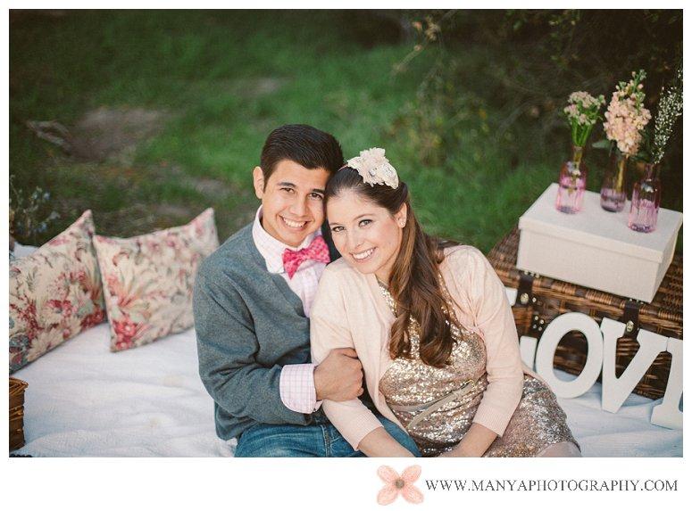 2014-02-01_0314- Valentine's Day Inspired Picnic Styled Engagement Shoot | Orange County Wedding Photographer