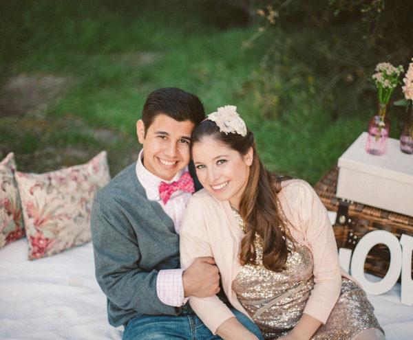 Valentine's Day Inspired Picnic Styled Engagement Shoot | Orange County Wedding Photographer