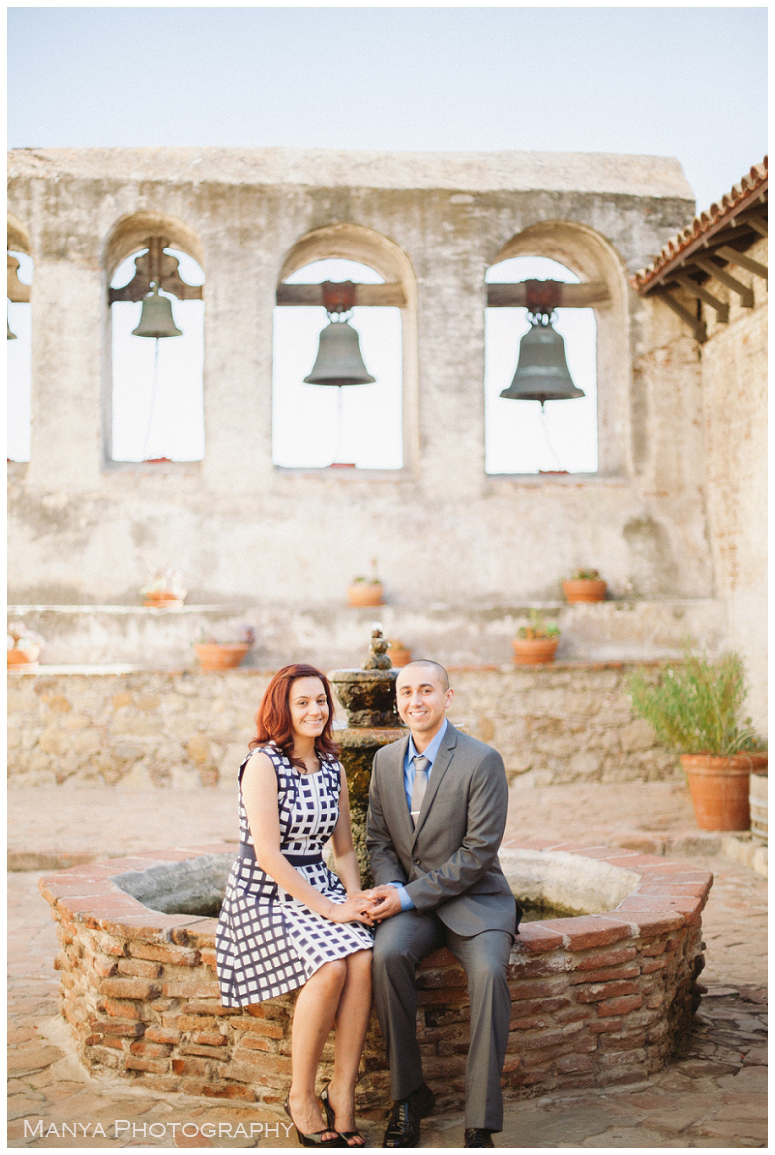 2014-06-13_0014- Sergio and Patti   Engagement   Mission San Juan Capistrano Wedding Photographer   Manya Photography