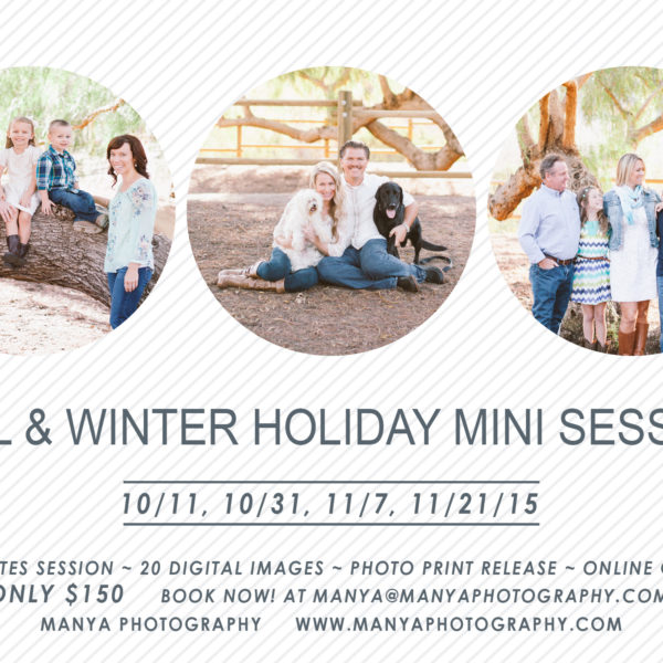 Fall and Winter Holiday Mini Sessions