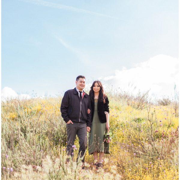 Engagement: Thomas + Elaine | Hemet Wildflowers | Orange County Wedding Photographer